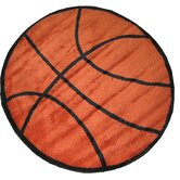 Fun Shape High Pile Basketball Sports Kids Rug