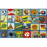 Supreme Funky Patchwork Boys Kids Rug