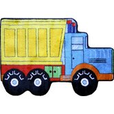 Fun Shape High Pile Dump Truck Kids Rug