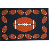Fun Time Football Time Kids Rug