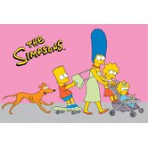 The Simpsons Walk N' Roll Pink Kids Rug