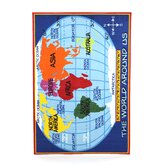 Fun Time Kid's World Map Classroom Kids Rug