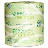 Atlas Paper Mills Green Heritage Bathroom Tissue, 1-Ply, 1000 Sheets, 96 Per Carton