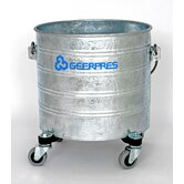 "Galvanized 4 Gallon Round Mop Bucket with 2"" Casters"