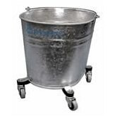 Seaway Galvanized 35 Quart Oval Mop Bucket with 2&quot; Casters