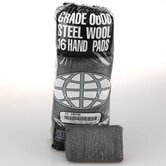 Industrial Quality Steel Wool Hand Pad, Medium - 16/Pack