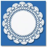 "8"" Round Cambridge Lace Doilies in  White"