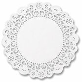 "5"" Round Brooklace Lace Doilies in  White"