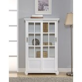 Altra Bookcase with Sliding Glass Doors in High Gloss White
