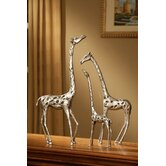 Giraffe Family Sculpture (Set of 3)