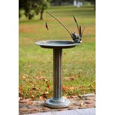 Fishing Frog Sundial/Birdbath
