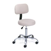 Height Adjustable Doctor's Stool with Back Cushion