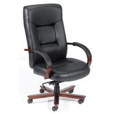 High-Back Italian Leather Executive Chair