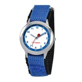 Kid's Stainless Steel Time Teacher Velcro Watch in Blue