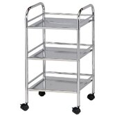"Storage Cart 29.75"" H 3 Shelf Shelving Unit"