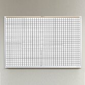 Porcelain Lifetime Grid Line Board- 4' x 8'