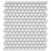 Retro 11-1/2&quot; x 9-7/8&quot; Porcelain Penni Mosaic in Matte White