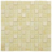 "Chroma 11-1/2"" x 11-1/2"" Square Glass and Stone Mosaic Wall Tile in Macadamia"