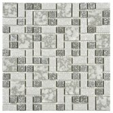 "Academy 11-3/4"" x 11-3/4"" Porcelain Mosaic in Grey"