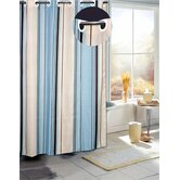 Stripes B EZ On Fabric Shower Curtain