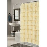 Carmen Crushed Voile Ruffle Tier Fabric Shower Curtain