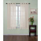Odor-Neutralizing Voile Grommet Sheer Window Curtain Panel in Ivory