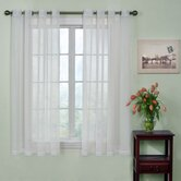 Odor-Neutralizing Voile Grommet Sheer Window Curtain Panel in White