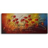 "Hand Painted ""Cluster of Wild Poppies"" Oil Canvas Art"