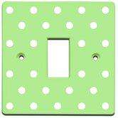 Polka Dots Switch Cover in Green