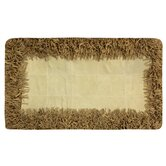 Beige Leather Rug
