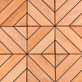 "12"" x 12"" Wood Deck Tiles in Dubai Ipe Champagne"