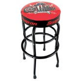 So Shop Stool with Black Legs - Choppier