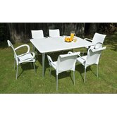 Maestrale 220cm Table with Optional Dama Chairs Set in White