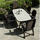 Toscana 165cm Ravenna Table with Lesena Chairs in Coffee