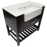 "35.25"" Single Farmhouse Sink Bathroom Vanity with Drawer"