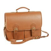 Single Compartment Briefcase with Laptop Case