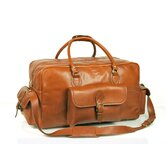 18&quot; Leather Overnight Carry-On Duffel