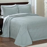 French Tile Full Bedspread in Blue