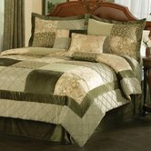 Green Garden King Comforter Set with Four Bonus Pieces
