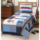 Cars Quilt with Pillow Sham