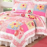 Olivia Pink Quilt with Pillow Sham