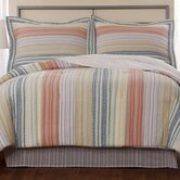 Retro Stripe Cotton Quilt and Sham