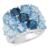 Sterling Silver Round Cut Multi-Colored Gemstone Ring