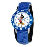 Kid's Mickey Mouse Time Teacher Watch in Blue with Blue Bezel