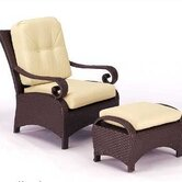 Carlton Wicker Deep Seating Chair w/ Cushions