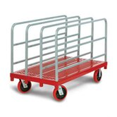 Heavy Duty Panel / Sheet Mover Quiet Poly Casters, All Swivel, 4 Uprights