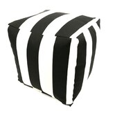 Striped Cube Ottoman