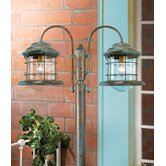 Caravela Two Light Outdoor One Arm Head Post Lamp