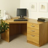Home Office Corner Desk with Inbuilt Pedestal
