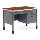 Executive Series Single Pedestal Sales Computer Desk